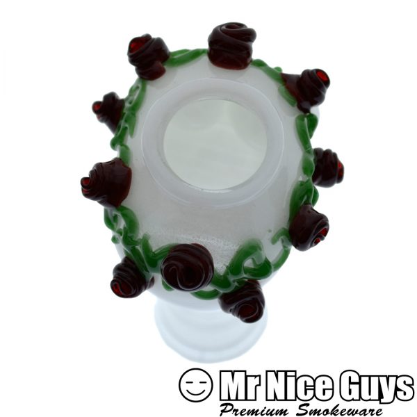 18MM SKULL WEARING A ROSE CROWN OIL RIG DOME BY FISH -14940