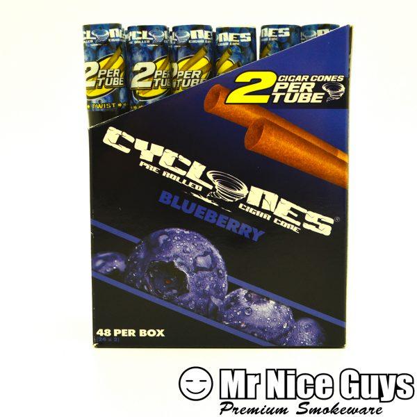 BLUEBERRY CYCLONES PRE ROLLED CIGAR CONES 2PK-0