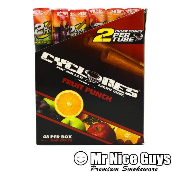 FRUIT PUNCH CYCLONES PRE ROLLED CIGAR CONES 2PK-0
