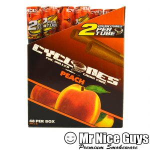 PEACH CYCLONES PRE ROLLED CIGAR CONES 2PK-0