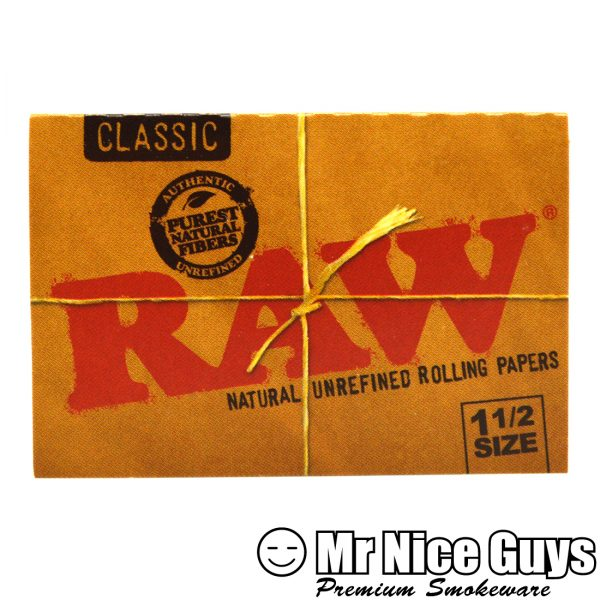 RAW 1-1/2 SIZE CLASSIC NATURAL UNREFINED ROLLING PAPERS-0