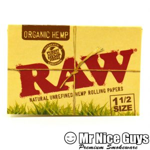 RAW 1-1/2 SIZE ORGANIC HEMP NATURAL UNREFINED ROLLING PAPERS-0
