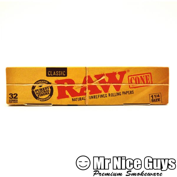 RAW 1-1/4 NATURAL UNREFINED CONES 32PK-0