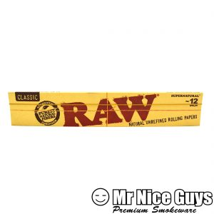 "RAW 12"" LONG CLASSIC NATURAL UNREFINED ROLLING PAPERS-0"