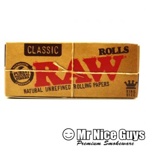 RAW KING SIZE ORGANIC HEMP ROLL PAPERS-0