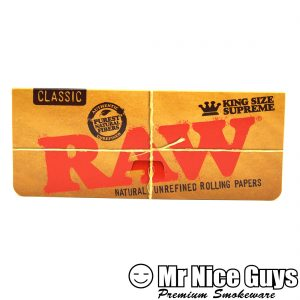 RAW KING SUPREME CLASSIC NATURAL UNREFINED ROLLING PAPERS-0