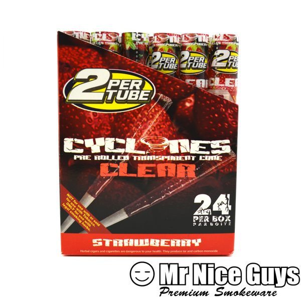 STRAWBERRY CYCLONES PRE ROLLED CIGAR CONES 2PK-0