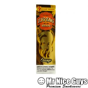 ZIG ZAG ORANGE CIGAR WRAPS 2PK-0