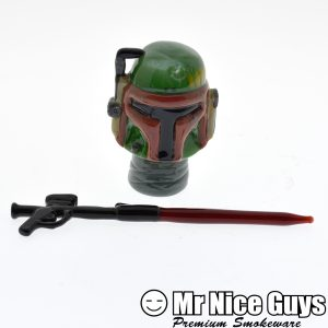 18MM BOBA FETT DOME WITH WEAPON DABBER BY FISH-0
