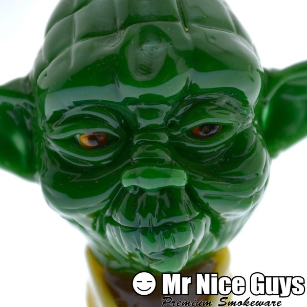18MM YODA DOME AND LIGHT SABER DABBER SET BY FISH-13851