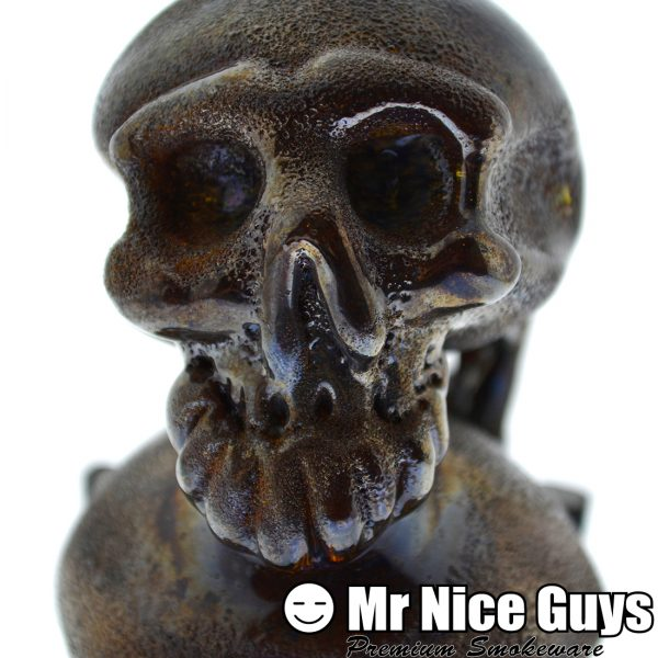 BRONZE DOUBLE SKULL SHERLOCK WITH STAND BY SNOOP -13149