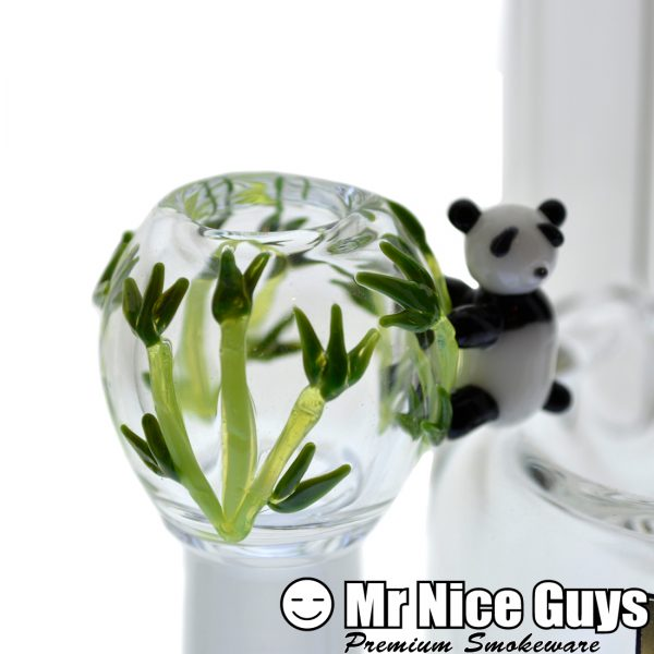 EMPIRE GLASS 14MM PANDA BEAR OIL RIG WITH FEMALE FLOWER SLIDE -16502