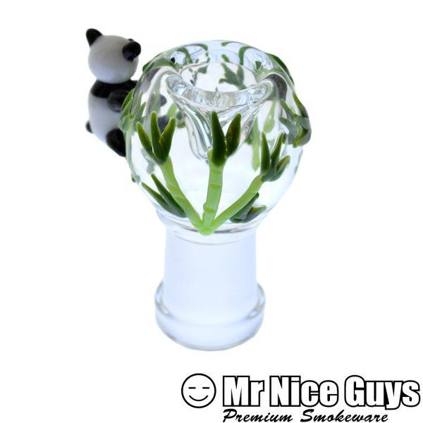 EMPIRE GLASS 14MM PANDA BEAR OIL RIG WITH FEMALE FLOWER SLIDE -16503