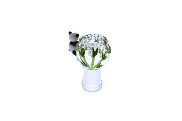 EMPIRE GLASS 14MM PANDA BEAR OIL RIG WITH FEMALE FLOWER SLIDE -16504