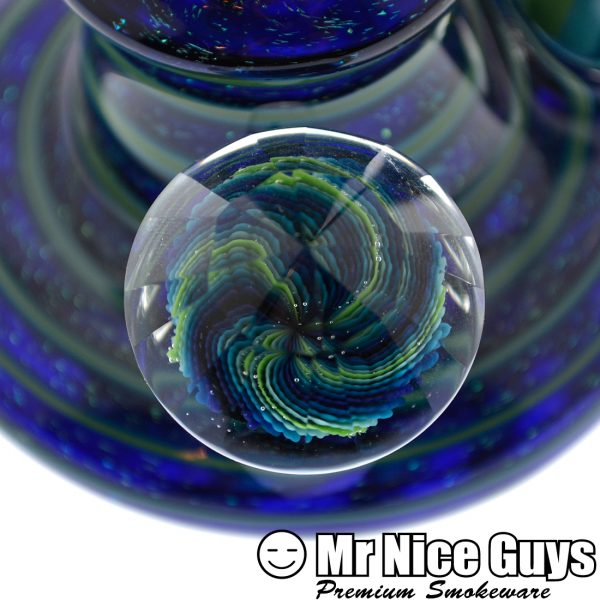 IMPECCABLE OCEANIC DICHRO REVERSAL BUBBLER W/FACETED MARBLE BY ANDY G-14170