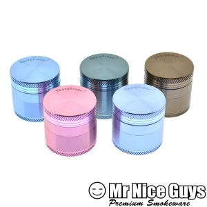 "SHARPSTONE 1.5"" HERBAL GRINDER 4PC AST COLORS-0"