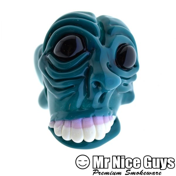 SICK FACE HANDPIPE WITH SLYME MOUTHPIECE BY SCARY GARY -14200