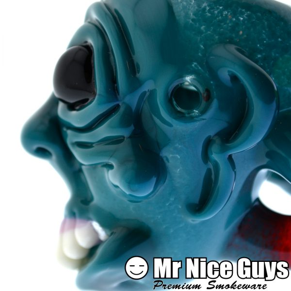 SICK FACE HANDPIPE WITH SLYME MOUTHPIECE BY SCARY GARY -14201
