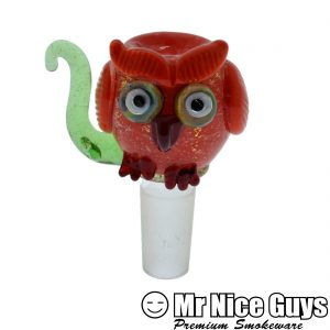 14MM OWL WATERPIPE SLIDE BY EMPIRE GLASS -0