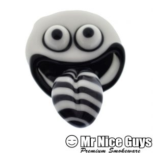 BLACK AND WHITE GOOFBALL FACE PENDANT -0