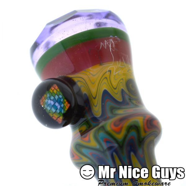 CANDY CRAZY REVERSAL CHILLUM BY COWBOY WITH FACETED BOWL -14748