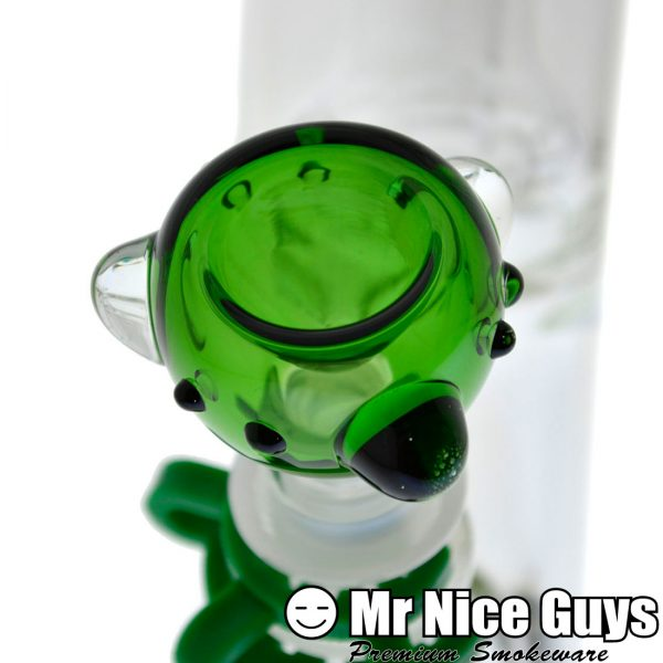 LEFT COAST GREEN LABEL SHOWERHEAD STRAIGHT TUBE WATERPIPE -14126