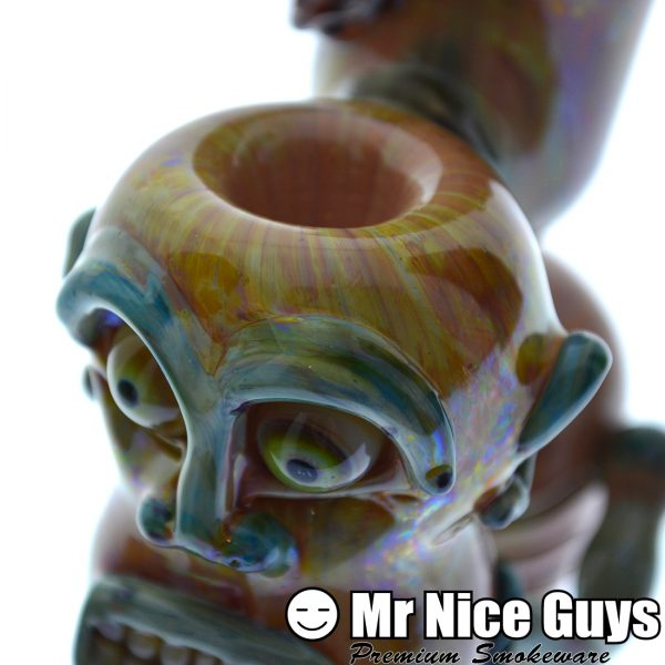 ROTTING FACE INSANE ASYLUM PATIENT HANDPIPE BY CRUSH GLASS-17783