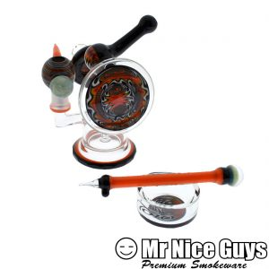 TORO FLAME MACAROON OIL RIG, DISH AND DABBER SET -0