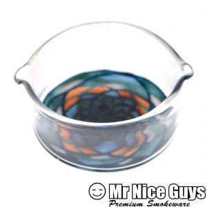 BLUE FIRE DICHRO FILLACELLO GLASS DISH BY LOUIS 'N LA PIERRE-0