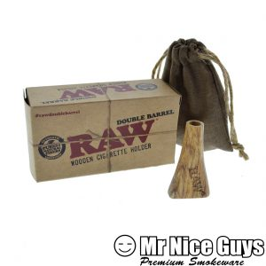 RAW DOUBLE BARREL WOODEN CIGARETTE HOLDER -0