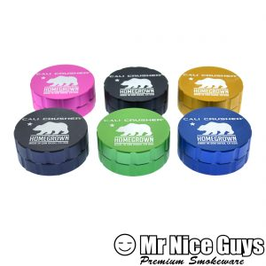 "CALI CRUSHER 3"" HERBAL GRINDER 2 PC AST COLORS AVAILABLE-0"