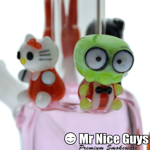 PINK KITTY AND FRIENDS OIL RIG BY EMPIRE GLASS -14207