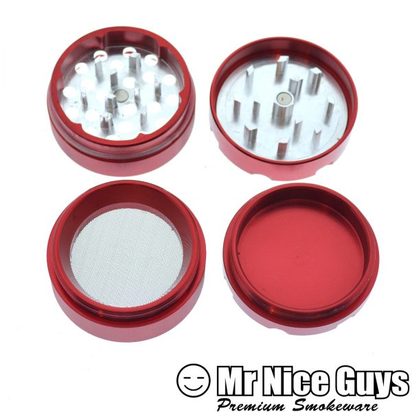 PIRANHA 1.5 INCH 4PC GRINDER ASSORTED COLORS AVAILABLE-0