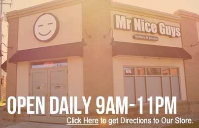 Directions to Mr Nice Guys St Cloud Minnesota including new store hours of 9am to 11pm.