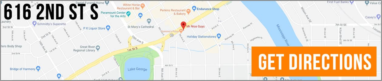 Directions to Mr Nice Guys Saint Cloud Minnesota.
